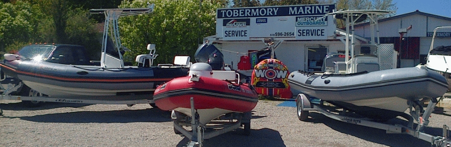 Photo of 3 Zodiacs at Tobermory Marine - Ontario's newest Zodiac dealer